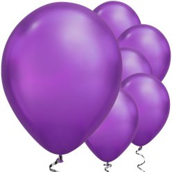 Purple Chrome Balloons - 11