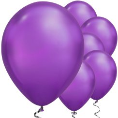"Purple Chrome Balloons - 11"" Latex"