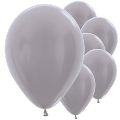 "Greige Satin Balloons - 12"" Latex"