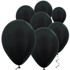 "Graphite Metallic Mini Balloons - 5"" Latex"
