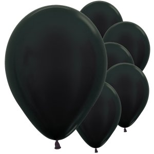 Graphite Metallic Balloons - 12