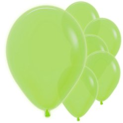 "Neon Green Balloons - 12"" Latex"