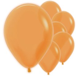"Neon Orange Balloons - 12"" Latex"