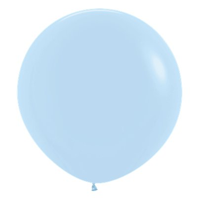 "Pastel Matte Blue Balloons - 24"" Latex"