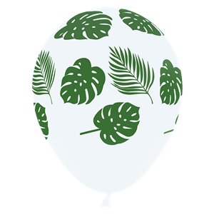 Tropical Leaves White Balloons - 12