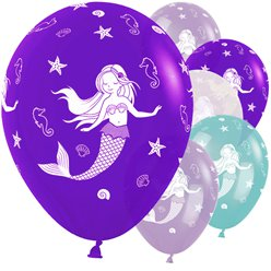 "Mermaid Balloons - 12"" Latex"