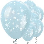 "Satin Blue Christmas Balloons - 12"" Latex"