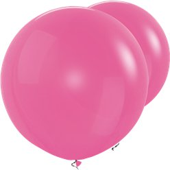 "Fuchsia Giant Balloons - 36"" Latex"