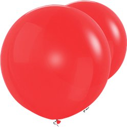 "Red Giant Balloons - 36"" Latex"