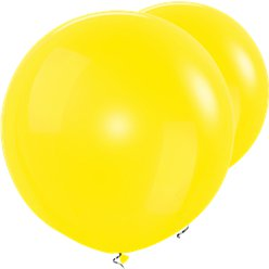 "Yellow Giant Balloons - 36"" Latex"
