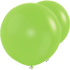 "Lime Green Giant Balloon - 36"" Latex"