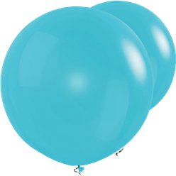 "Caribbean Blue Giant Balloons - 36"" Latex"