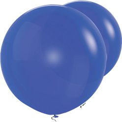 "Royal Blue Giant Balloons - 36"" Latex"