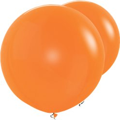 "Orange Giant Balloons - 36"" Latex"