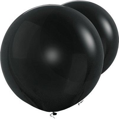 "Black Giant Balloons - 36"" Latex"