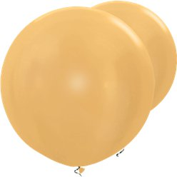 "Metallic Gold Giant Balloons - 36"" Latex"