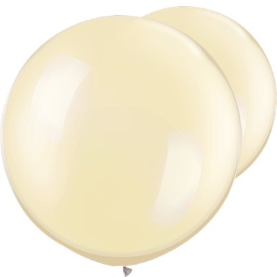 "Pearl Ivory Giant Balloons - 30"" Latex"