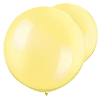 "Pearl Lemon Chiffon Giant Balloons - 30"" Latex"