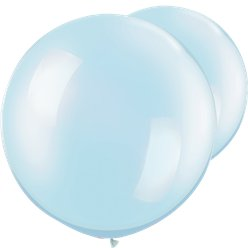 "Pearl Light Blue Giant Balloons - 30"" Latex"