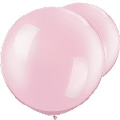 "Pearl Pink Giant Balloons - 30"" Latex"