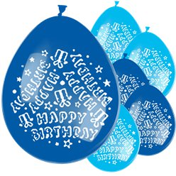Blue Happy Birthday Balloons - (Balloons)