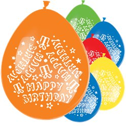 Multi Happy Birthday Balloons - 11