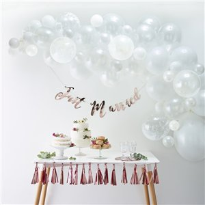 White Balloon Arch - 70 Balloons