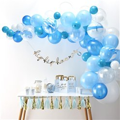 Blue Balloon Arch - 70 Balloons