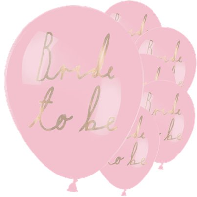 "Bride To Be Balloons - 12"" Latex"