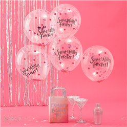 "Same Willy Forever Confetti Balloons - 12"" Latex"
