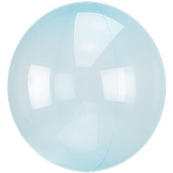 Crystal Clearz Blue Balloon - 18""