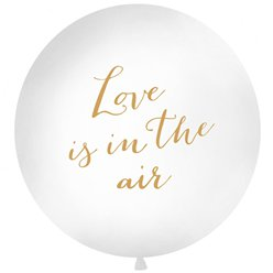 "Gold Love Is In The Air Giant Balloon - 36"" Latex"