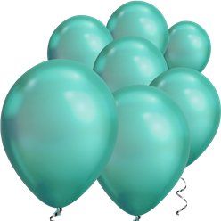 "Green Chrome Balloons - 7"" Latex"