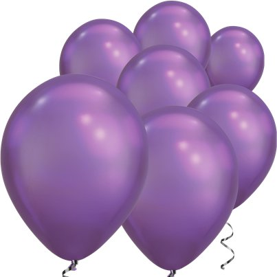 "Purple Chrome Balloons - 7"" Latex"