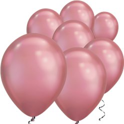 "Mauve Chrome Balloons - 7"" Latex"