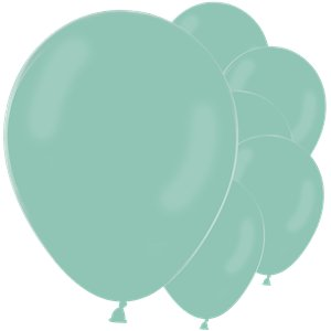 Pastel Mint Green Latex Balloons - 12