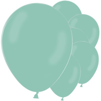 Pastel Mint Green Latex Balloons - 12""