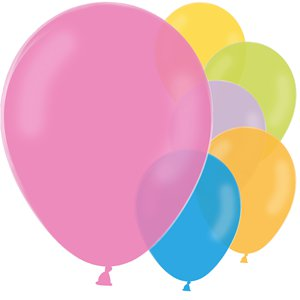 Pastel Mix Latex Balloons - 12