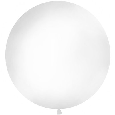 White Giant Latex Balloon - 1m