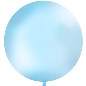 Pastel Blue Giant Latex Balloon - 1m
