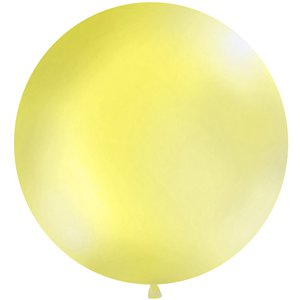 Pastel Yellow Giant Latex Balloon - 1m