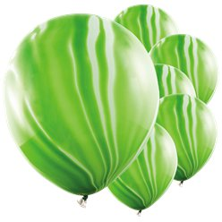 Green Marble Latex Balloons - 12""