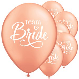 Rose Gold Team Bride Balloons - 11