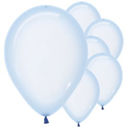 "Pastel Blue Crystal Balloons - 12"" Latex"