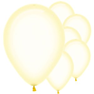 Pastel Yellow Crystal Balloons - 12