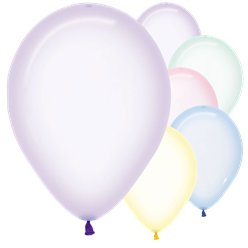 "Pastel Assorted Crystal Balloons - 12"" Latex"