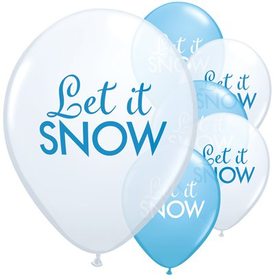 "Let It Snow Balloons - 11"" Latex"