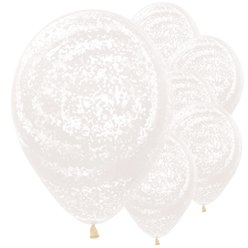 "Graffiti Frosty White Balloons - 12"" Latex"
