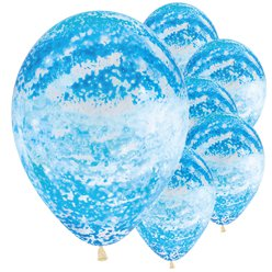 "Graffiti Sky Blue Balloons - 12"" Latex"