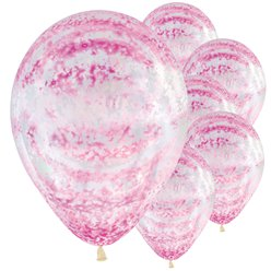 "Graffiti Rose Pink Balloons - 12"" Latex"